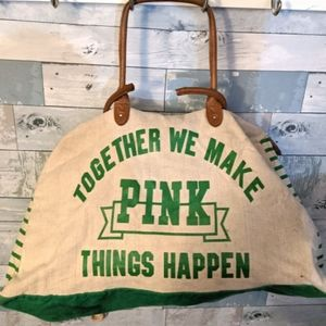 Victoria's secret PINK vintage canvas bag
